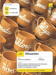 Cover of: Teach Yourself Lithuanian (Teach Yourself Complete Courses)