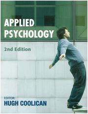 Cover of: Applied Psychology (A Hodder Arnold Publication)