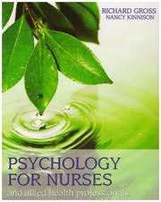 Cover of: Psychology for Nurses and Allied Health Professionals