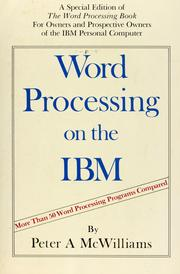 Cover of: Word Processing on the IBM