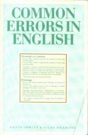 Cover of: Common Errors in English