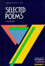 "Cover of: Byron, ""Selected Poems"""