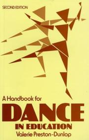 Cover of: Handbook Dance Education