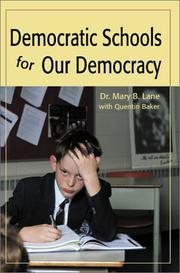 Cover of: Democratic Schools for Our Democracy