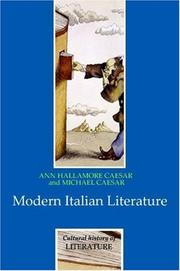 Cover of: Modern Italian Literature (Cultural History of Literature)