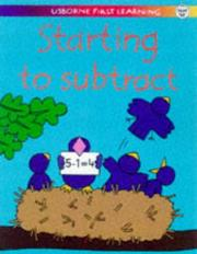 Cover of: Starting to Subtract (Usborne First Learning)