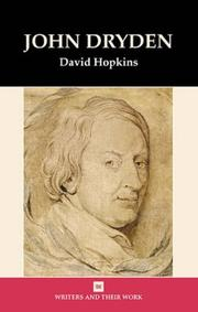 Cover of: John Dryden (Writers & Their Work)