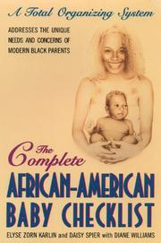 Cover of: The Complete African-American Baby Checklist