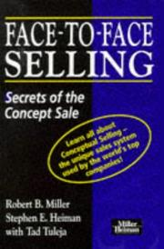Cover of: Face-to-face Selling