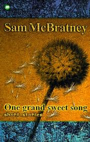 Cover of: One Grand Sweet Song (Contents)