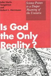 Cover of: Is God the only reality?