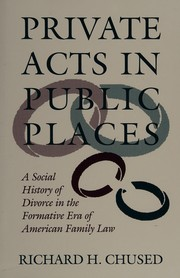 Cover of: Private acts in public places