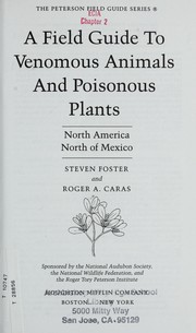 Cover of: A field guide to venomous animals and poisonous plants, North America, north of Mexico