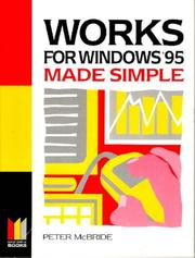Cover of: Works for Windows 95 Made Simple (Made Simple Computer)