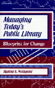 Cover of: Managing today's public library