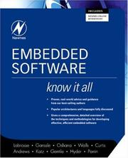 Cover of: Embedded Software (Newnes Know It All) (Newnes Know It All)