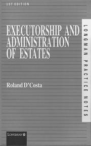 Cover of: Executorship and Administrative of Estates (Practice Notes Series)