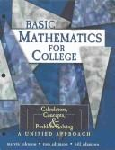 Cover of: Basic Mathematics for College
