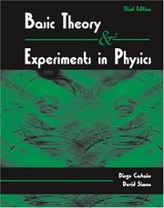 Cover of: Basic Theory and Experiments in Physics