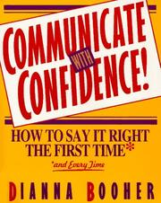Cover of: Communicate with confidence!
