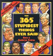 Cover of: Cal 99 365 Stupidest Things Ever Said Calendar