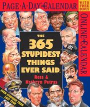 Cover of: 365 Stupidest Things Ever Said Page-A-Day Calendar 2003