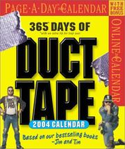 Cover of: Duct Tape Page-A-Day Calendar 2004 (Page-A-Day(r) Calendars)