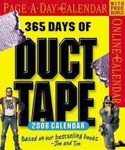 Cover of: 365 Days of Duct Tape Calendar 2006