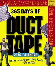 Cover of: 365 Days of Duct Tape Page-A-Day Calendar 2007 (Page-A-Day Calendars)