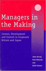 Cover of: Managers in the Making