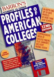 Cover of: Profiles of American Colleges (22nd ed)