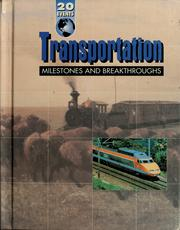 Cover of: Transportation milestones and breakthroughs
