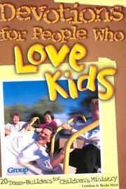 Cover of: Devotions for People Who Love Kids