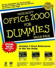 Cover of: Microsoft Office 2000 for Dummies, Value Pack