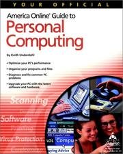 Cover of: Your Official America Online Guide to Personal Computing