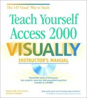Cover of: Teach Yourself Access 2000 VISUALLY: Instructor's Manual