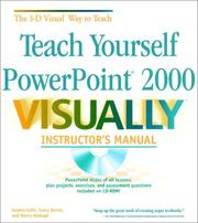 Cover of: Teach Yourself PowerPoint 2000 VISUALLY Instructor's Manual