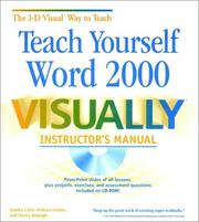 Cover of: Teach Yourself Word 2000 VISUALLY Instructor's Manual