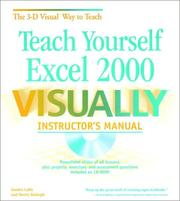 Cover of: Teach Yourself Excel 2000 VISUALLY: Instructor's Manual