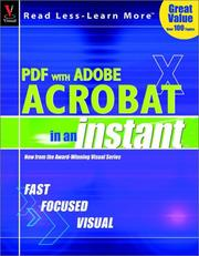 "Cover of: PDF with Adobe Acrobat ""X"" In an Instant"