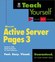 Cover of: Teach Yourself Active Server Pages 3 (Teach Yourself)