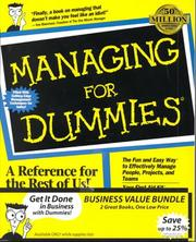 Cover of: Managing for Dummies / Marketing for Dummies (2 Book Set)