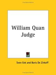 Cover of: William Quan Judge