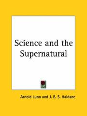 Cover of: Science and the Supernatural