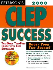 Cover of: Peterson's Clep Success
