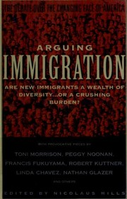Cover of: Arguing Immigration