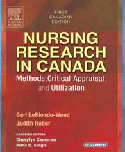 Cover of: Nursing Research in Canada