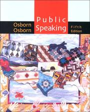 Cover of: Public Speaking, Fifth Edition And Sp Prep Workbook