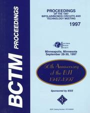 Cover of: Proceedings of the 1997 Bipolar/Bicmos Circuits and Technology Meeting