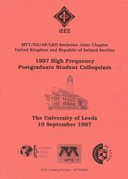 Cover of: 1997 High Frequency Postgraduate Student Colloquium